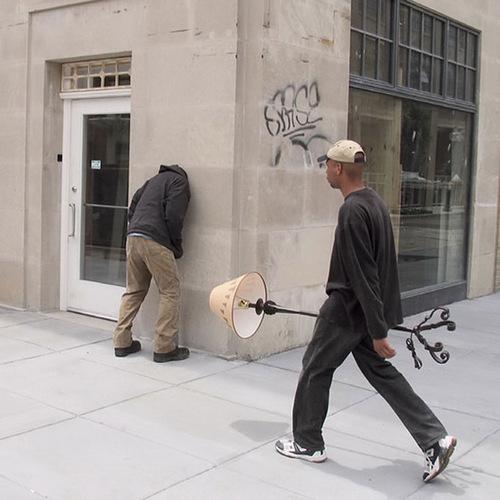 Street installation by American artist Mark Jenkins