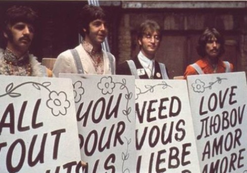 """The word """"Love"""" in different languages. The Beatles"""
