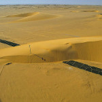 The road destroyed by the dune, Egypt