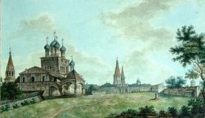 View of Kolomenskoye by Fyodor Alexeyev (19th century)