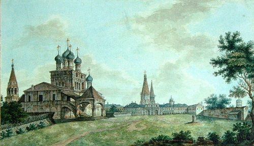 View of Kolomenskoye by Fyodor Alexeyev (19th century)