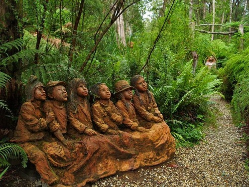 Wonderful Sculpture Garden by Australia based artist Bruno Torfs