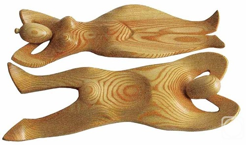 Oak wood carving
