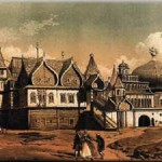 Wooden palace in Kolomenskoye. 18th century picture.