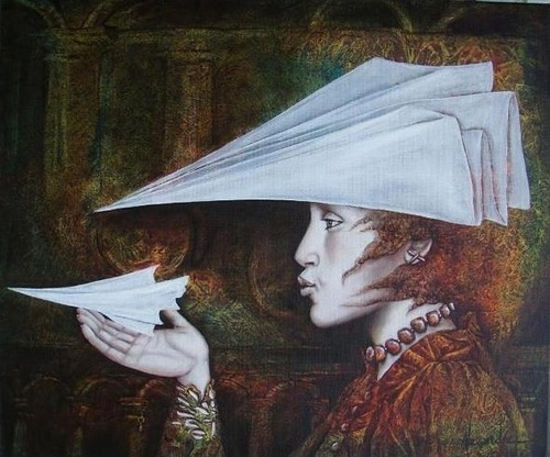 Paper planes. Beautiful Surreal World of French artist Catherine Alexandre
