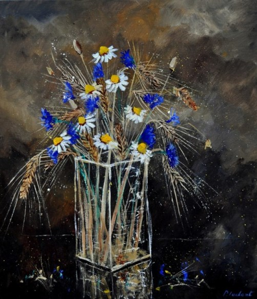 Painting by Belgian self-taught artist Pol Ledent