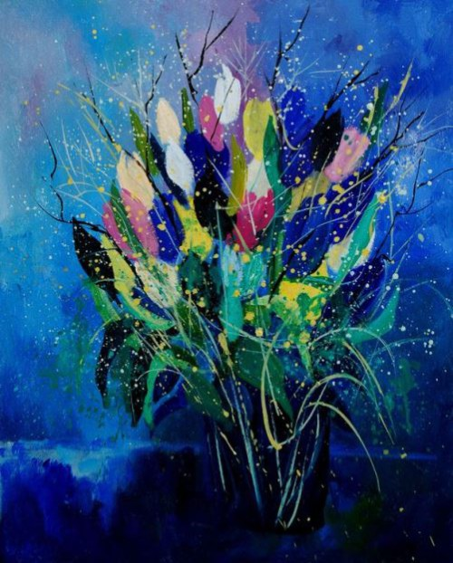 Painting by Belgian self-taught artist Pol Ledent