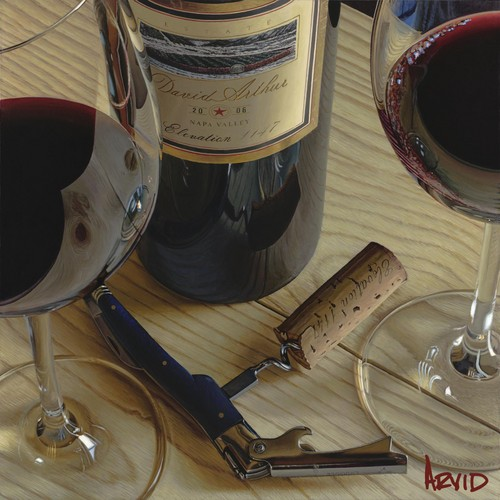 Realistic Wine Paintings of Thomas Arvid