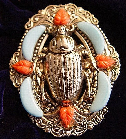 Enameled brooch beetle
