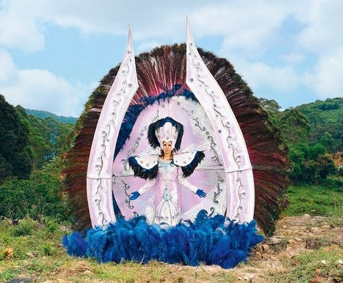 Stunning fancy costume of Samba Queen, made in Posusje de Caldas