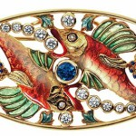 Beautiful two fish brooch