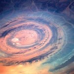 50 km in diameter – 30 miles, it resembles an eye when looked upon from space