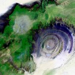 Resembles an eye when looked upon from space – The Eye of the Earth