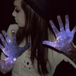 Glittering hands