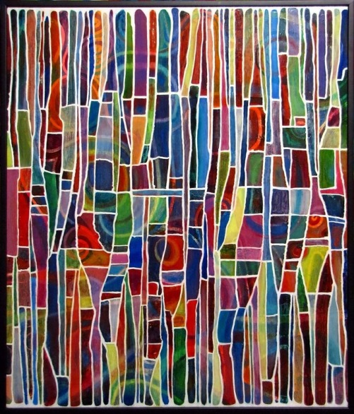 Abstract painting by Russian artist Alexander Bolkvadze