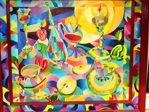 Colorful Abstract painting by Russian artist Alexander Bolkvadze