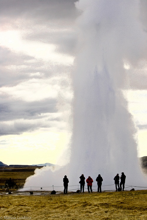 Impressive geysers of Haukadalur. Þingvellir National Park