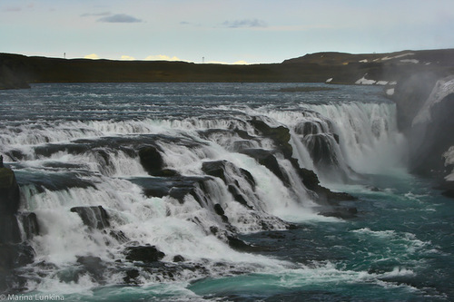 The river Oxara forms a waterfall at the Almannagja, called Oxararfoss