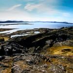 Thingvallavatn, the largest lake located in the Þingvellir National Park