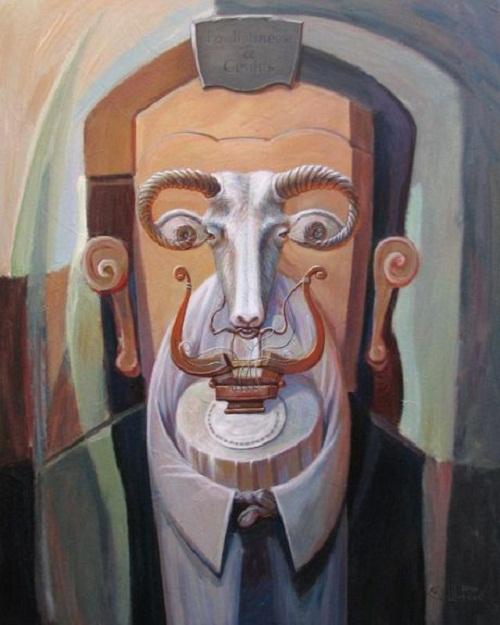 Hidden images in Oleg Shuplyak's paintings