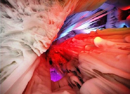 Amazing 3 mln-year-old ice cave in Ningwu County of Xinzhou City, Shanxi Province, China