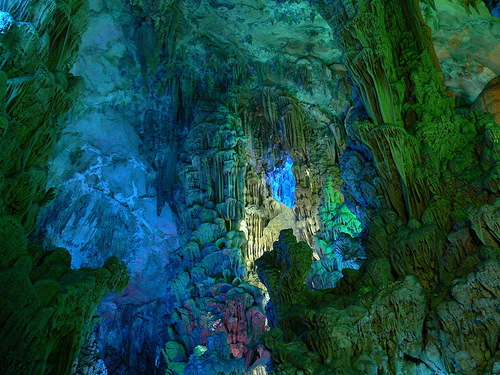 Beautiful cave Reed flute in Guilin, Guangxi, China