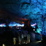 Beautiful cave Reed flute in Guilin, Guangxi, China