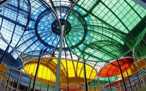 Colorful installation by Frwnch conceptual artist Daniel Buren