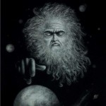 Old man with a crystal ball