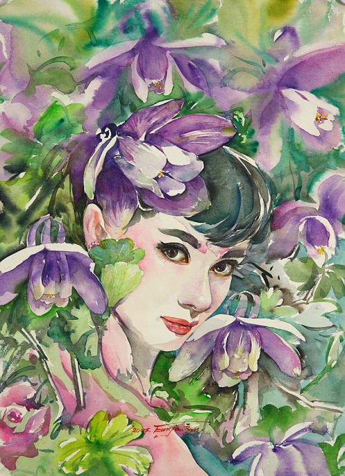Film actress Audrey Hepburn