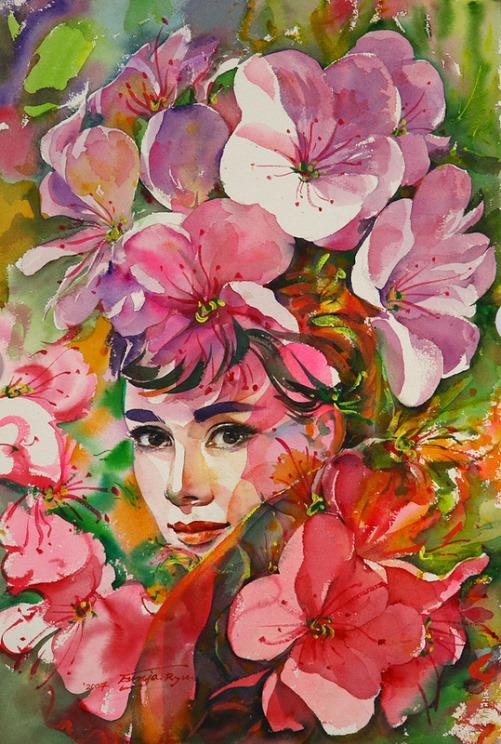 Hollywood actress Audrey Hepburn