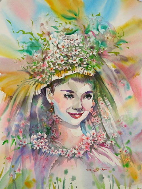 Inspirational portrait of Audrey Hepburn