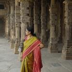 A woman in a sari