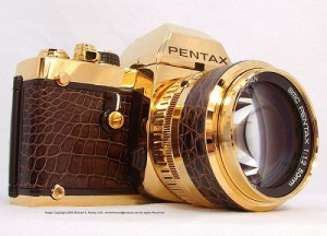 an exclusive, unique, legendary camera Pentax LX Gold, consists entirely of pure gold