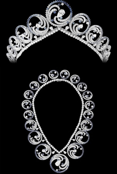 Also worn as a necklace, the Ocean Tiara
