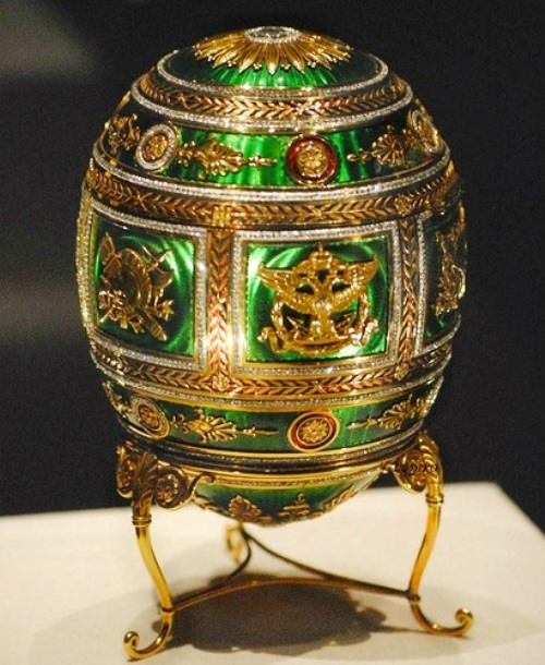 Egg 'Napoleonic' made in 1912 by the court jeweler Carl Faberge firm. Master jeweler Henry Wigstrom