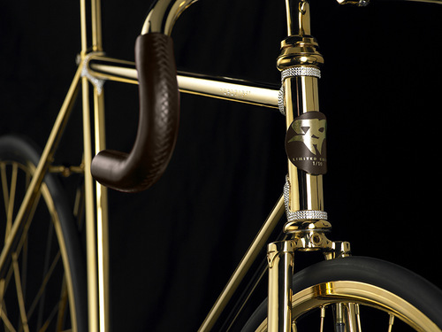 Golden Bike Aurumania - the most expensive bike in the world, released by Denmark-based company Aurumania