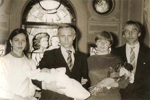 Our friends Ira and Roldugin became godparents of Masha