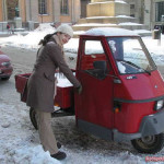 Produced by Italian Piaggio company 3-wheeled Ape