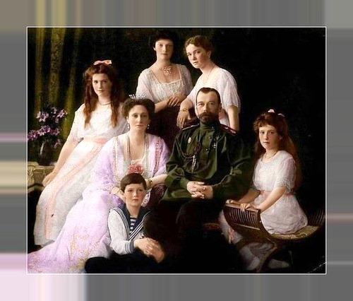 The portrait of the vanished royal family Czar Nicholas II, Empress Alexandra, Tsarevich Alexei, Grand Duchesses Olga, Tatiana Nikolaevna, Maria Nikolaevna and Anastasia Nikolaevna