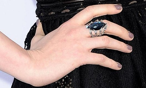 Actress Evan Rachel Wood in Stephen Webster Cocktail Ring