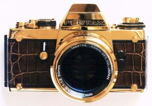Pentax LX Gold camera made of pure gold