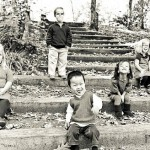 The Johnston children are a mix of American, Siberian, Chinese and South Korean