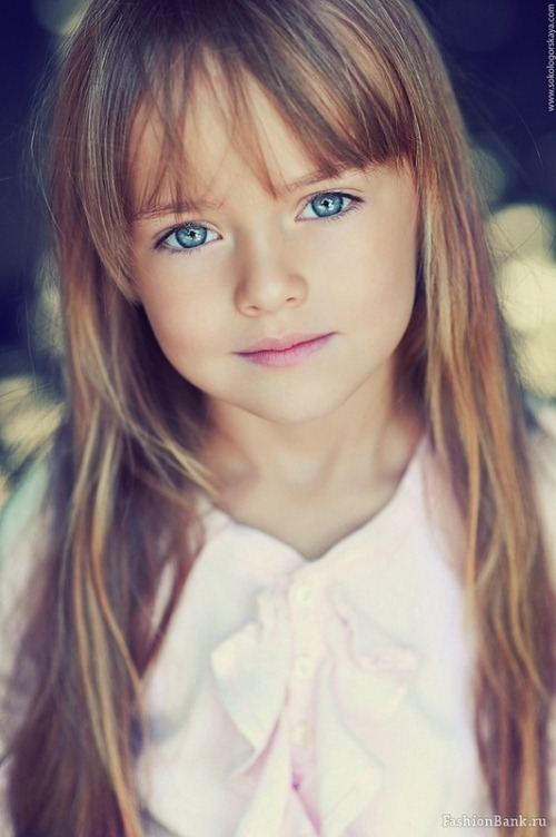 four year-old fashion model Kristina Pimenova