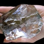 A glass model replica of the Cullinan diamond in its original rough state