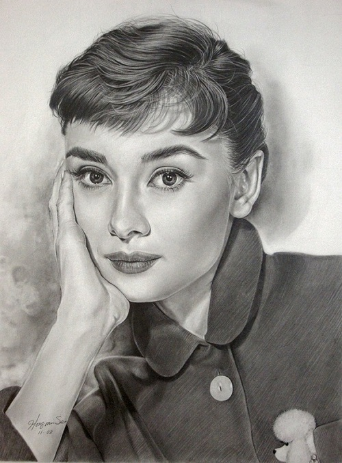 Audrey Hepburn. celebrities by Michelle Seo