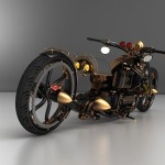"The view of Steampunk Chopper ""Black Widow"""