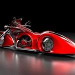Scarlet motorcycle by Mikhail Smolyanov