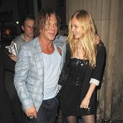 Beautiful couple - Mickey Rourke and Elena Kuletskaya