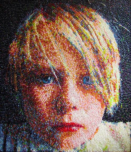 Jelly bean art by Kristen Cummings